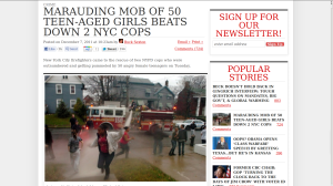 TheBlaze.com features a story about Marauding Mobs of teen girls attacking cops.